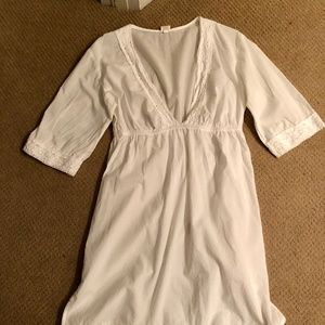 Elegant White Cover-Up with Lace Detail